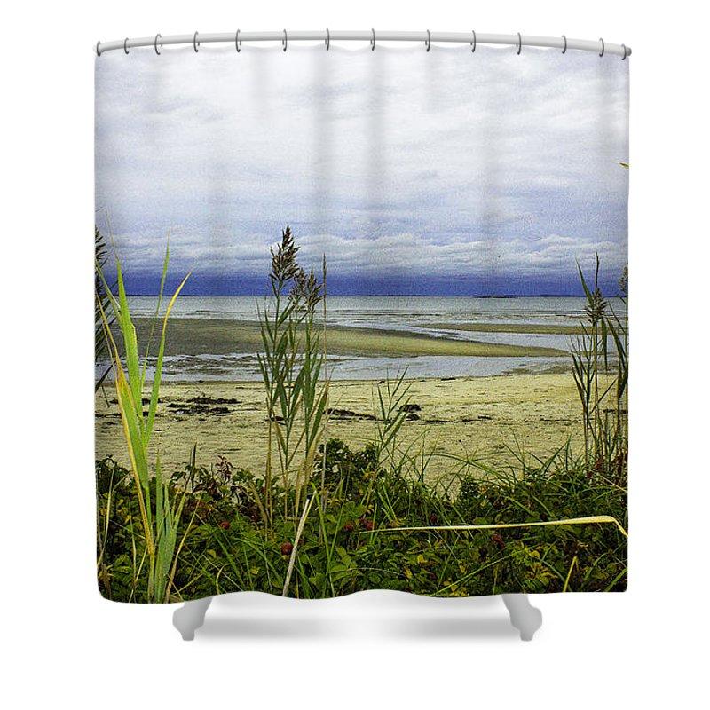 Landscape Shower Curtain featuring the photograph Ocean Calm Before Sunrise - Rocky Neck State Park by Geneva Renegar