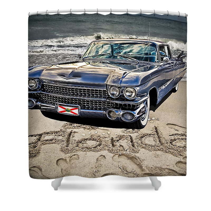 Cadillac Shower Curtain featuring the photograph Ocean Drive by Joachim G Pinkawa