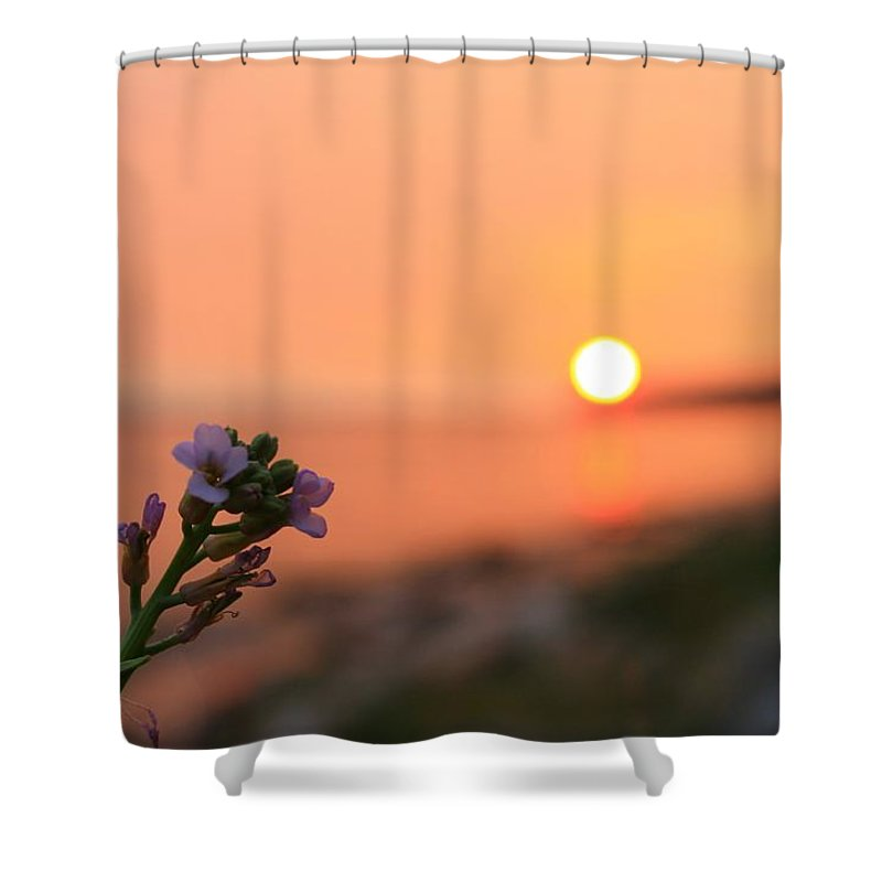 Landscape Shower Curtain featuring the photograph Ocean Fever by Margre Flikweert