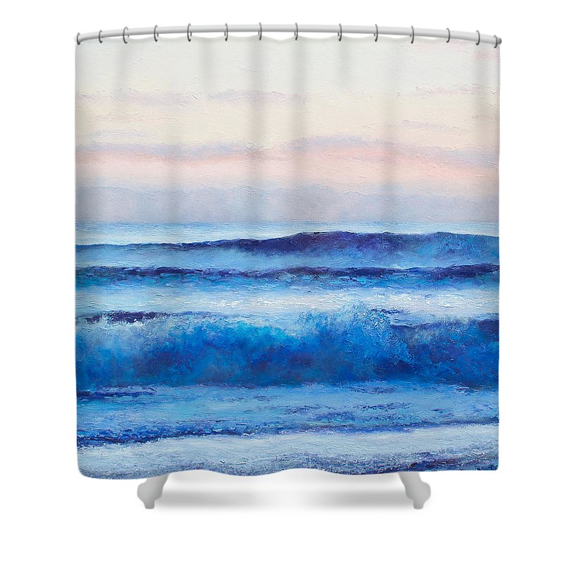 Ocean Shower Curtain Featuring The Painting
