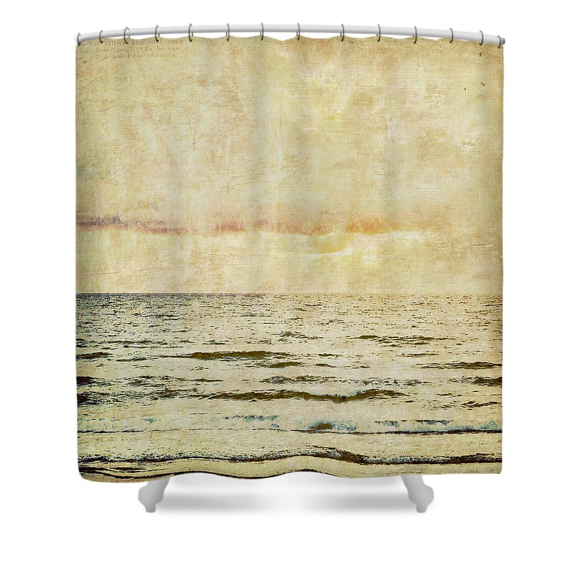 Brandi Fitzgerald Shower Curtain featuring the digital art Ocean Scene by Brandi Fitzgerald