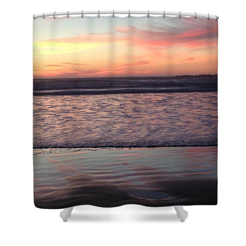 Ocean Shower Curtain featuring the photograph Ocean sunset by Shari Chavira