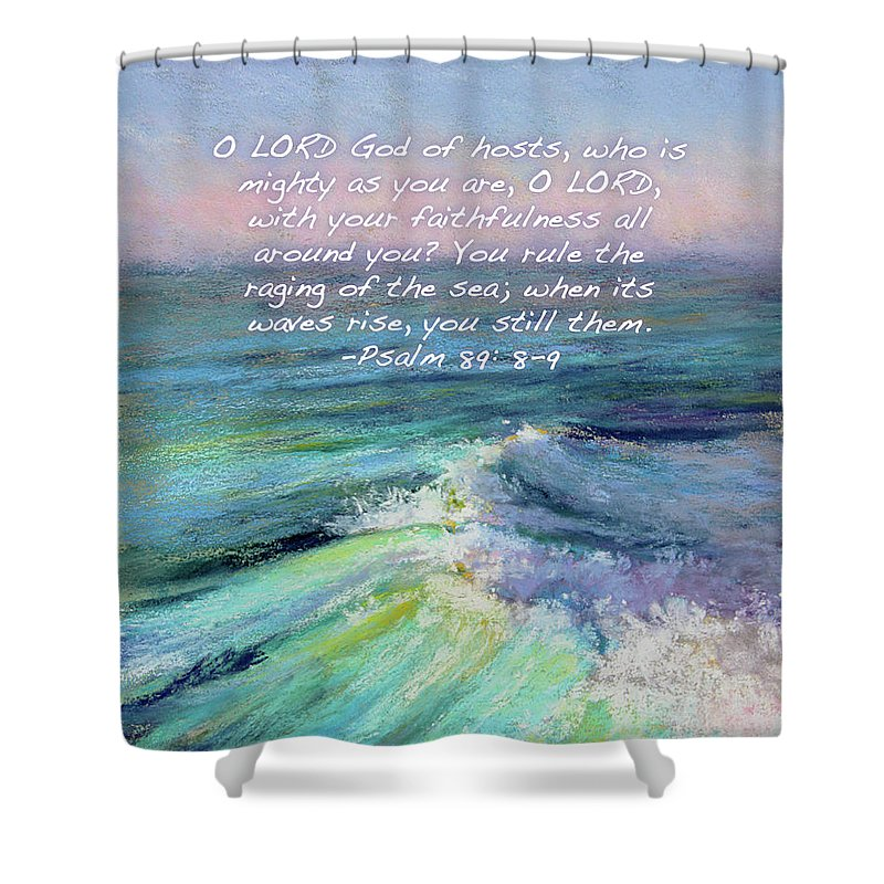 Ocean Symphony With Bible Verse Shower Curtain for Sale by Susan Jenkins