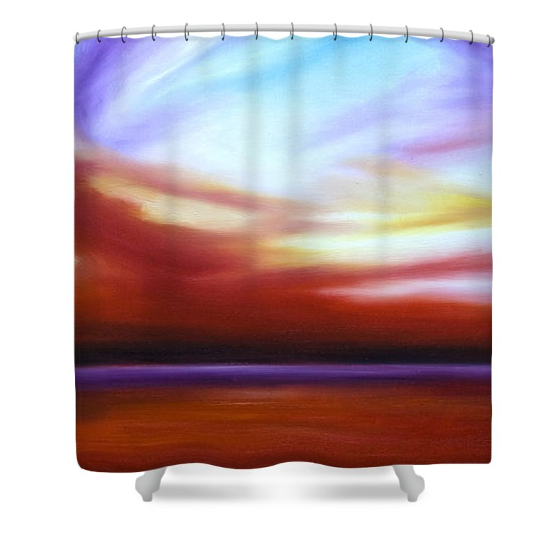 Skyscape Shower Curtain featuring the painting October Sky IIi by James Christopher Hill