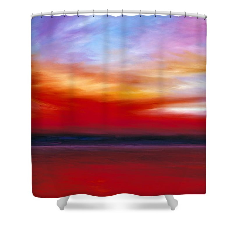 Clouds Shower Curtain featuring the painting October Sky by James Christopher Hill