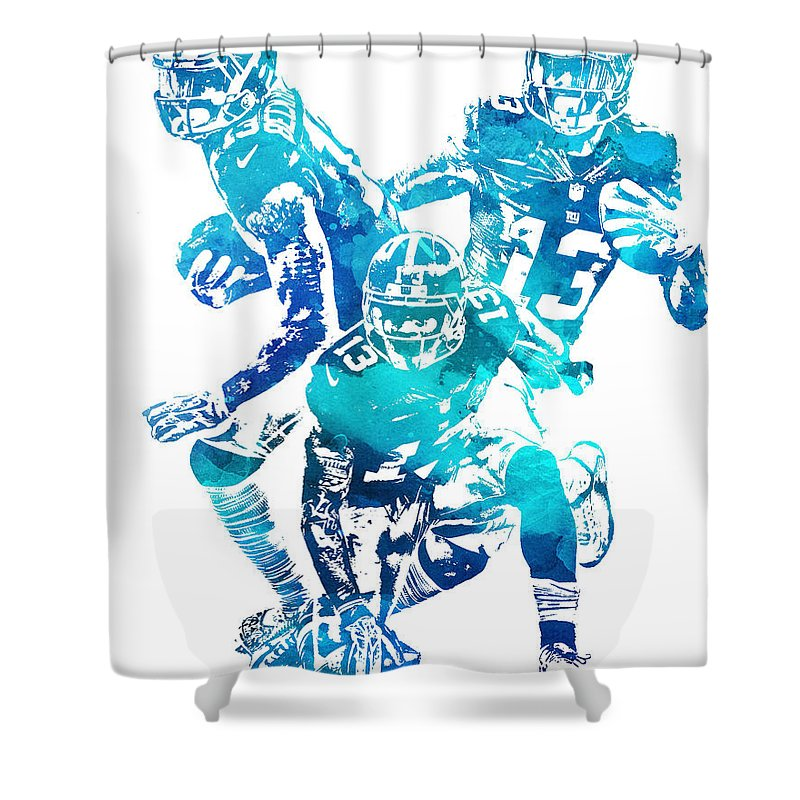 Odell Beckham Jr Shower Curtain Featuring The Mixed Media New York Giants Water