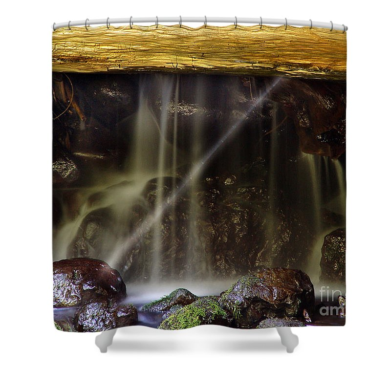 Water Trickle Shower Curtain featuring the photograph Of Light And Mist by Peter Piatt