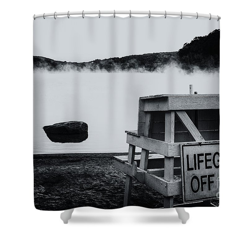 Lake Waramaug Shower Curtain featuring the photograph Off Duty by Grant Dupill