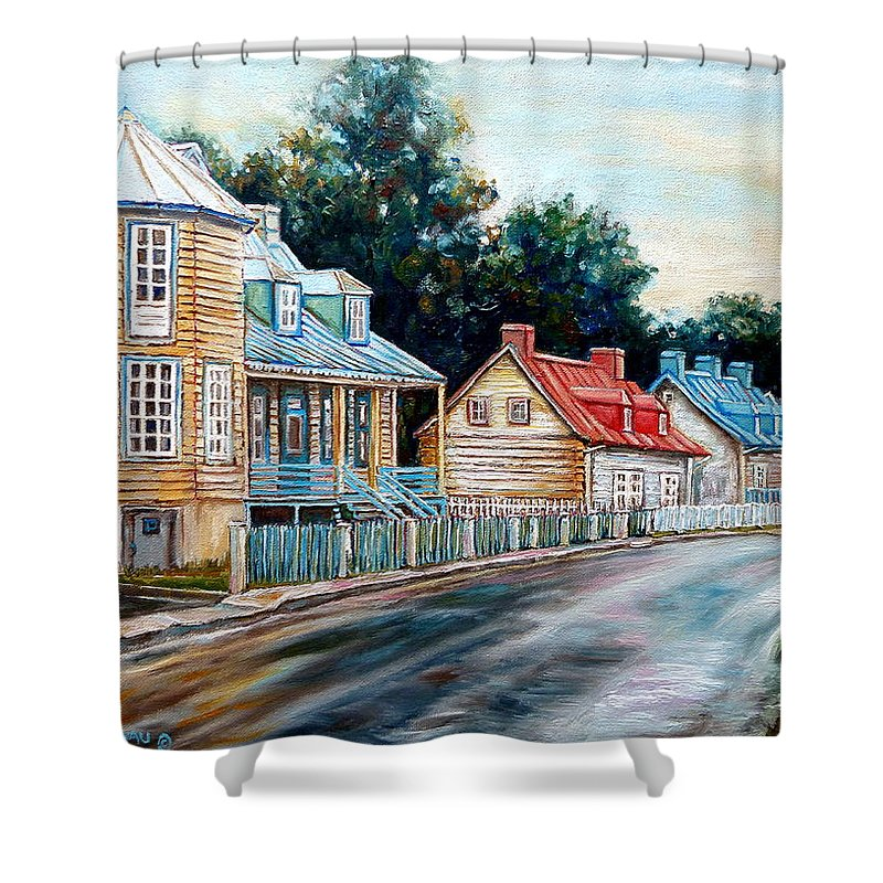Ile D'oleans Shower Curtain featuring the painting Oh What A Beautiful Morning by Carole Spandau