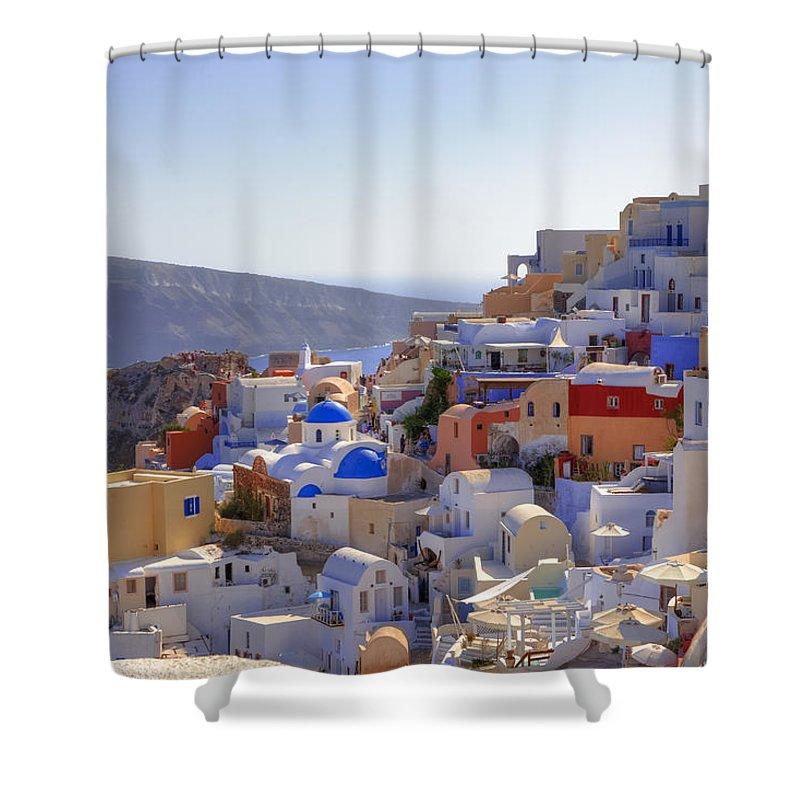 Oia Shower Curtain featuring the photograph Oia - Santorini by Joana Kruse