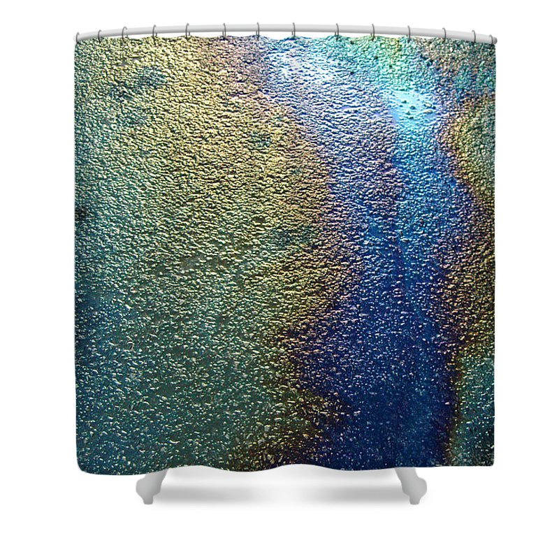 Oil Shower Curtain featuring the photograph Oil Slick by Trish Hale
