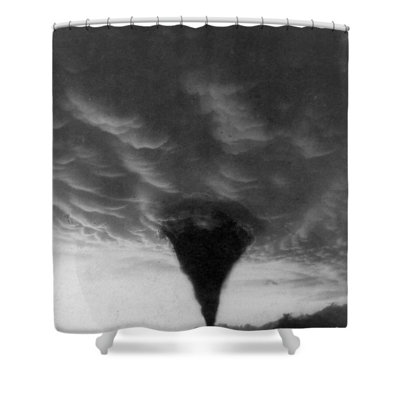 1898 Shower Curtain featuring the photograph Oklahoma Tornado, C1898 - To License For Professional Use Visit Granger.com by Granger