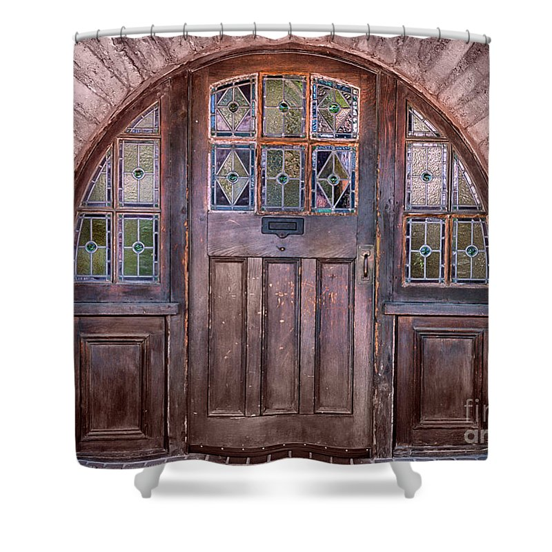 Southwest Shower Curtain featuring the photograph Old Arched Doorway-tucson by Sandra Bronstein