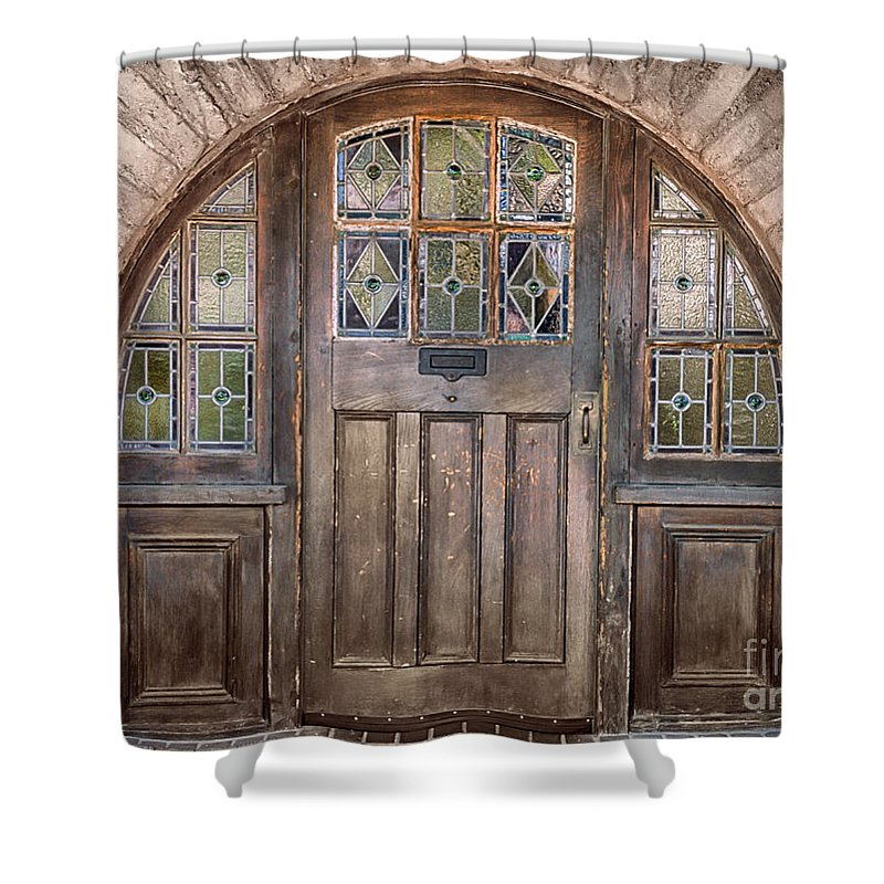 Southwest Shower Curtain featuring the photograph Old Archway And Door by Sandra Bronstein