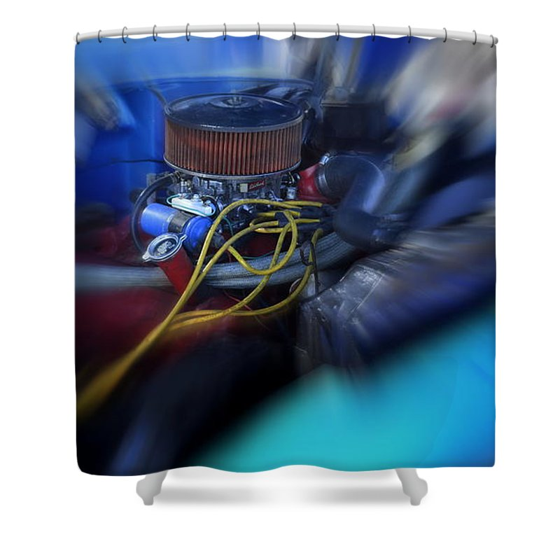 Truck Shower Curtain featuring the photograph Old Bad Blue by Mark Bell
