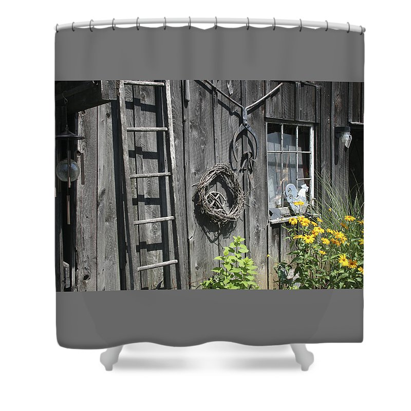 Barn Shower Curtain featuring the photograph Old Barn II by Margie Wildblood