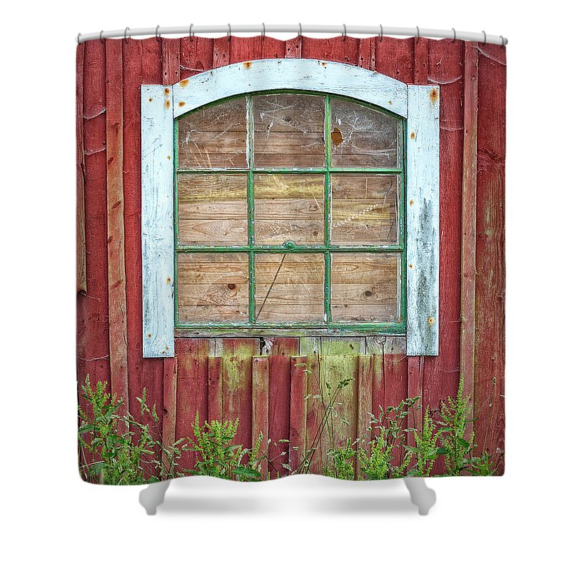 Barn Shower Curtain featuring the photograph Old Barn Window by Antony McAulay