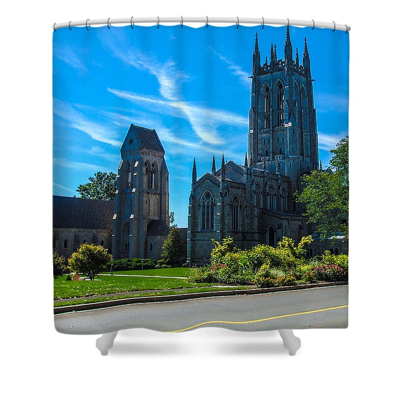 Church Shower Curtain featuring the photograph Old Beauty Of History by Gerald Kloss