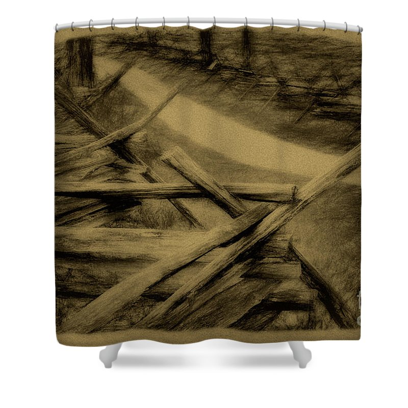Antietam Shower Curtain featuring the photograph Old Bloody Lane by Paul W Faust - Impressions of Light