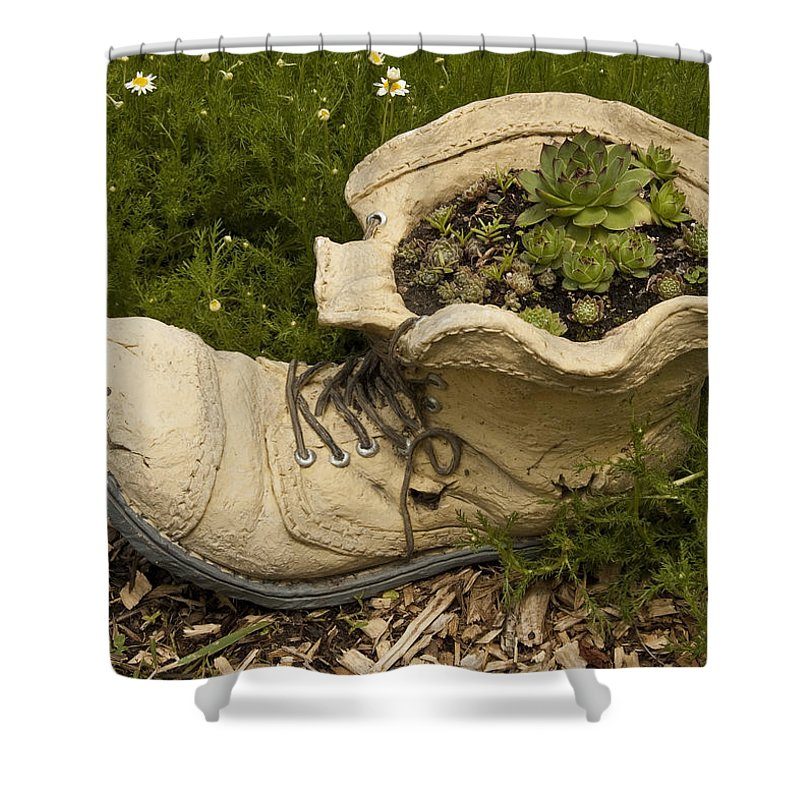 St. Clair County Shower Curtain featuring the photograph Old Boot by Paul Cannon