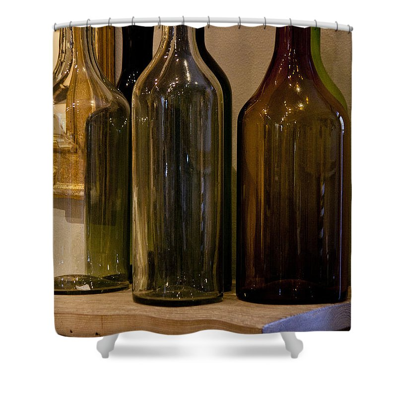 Bottles Shower Curtain featuring the photograph Old Bottles by Donna Walsh
