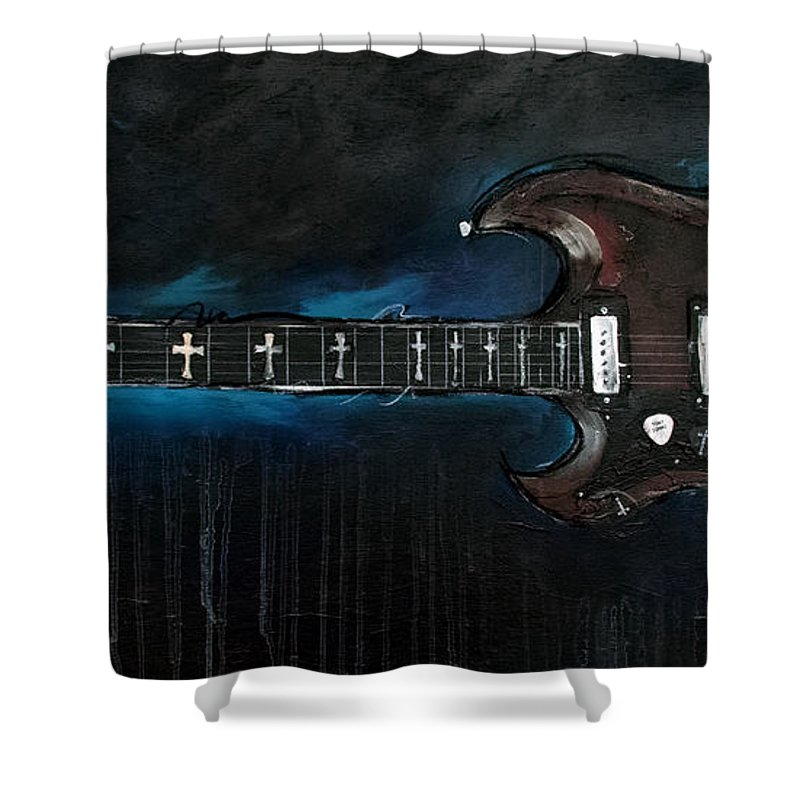 Randy Rhodes Shower Curtain featuring the painting Old Boy by Sean Parnell