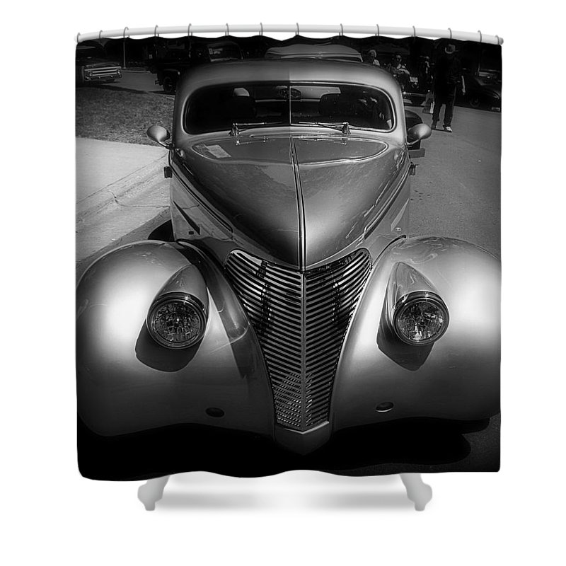 Old Shower Curtain featuring the photograph Old Calssic Car by Perry Webster