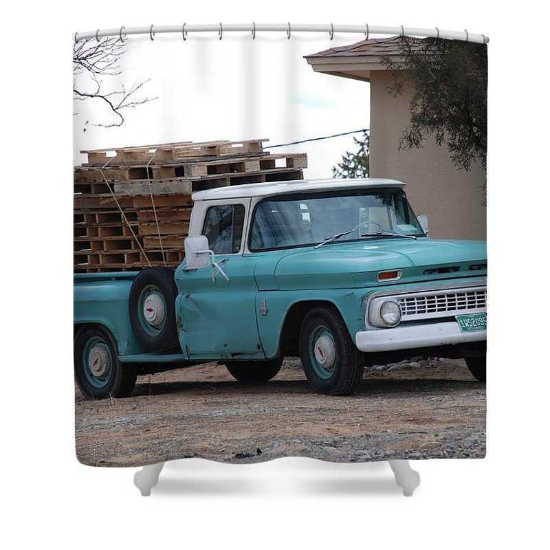 Old Truck Shower Curtain featuring the photograph Old Chevy by Rob Hans