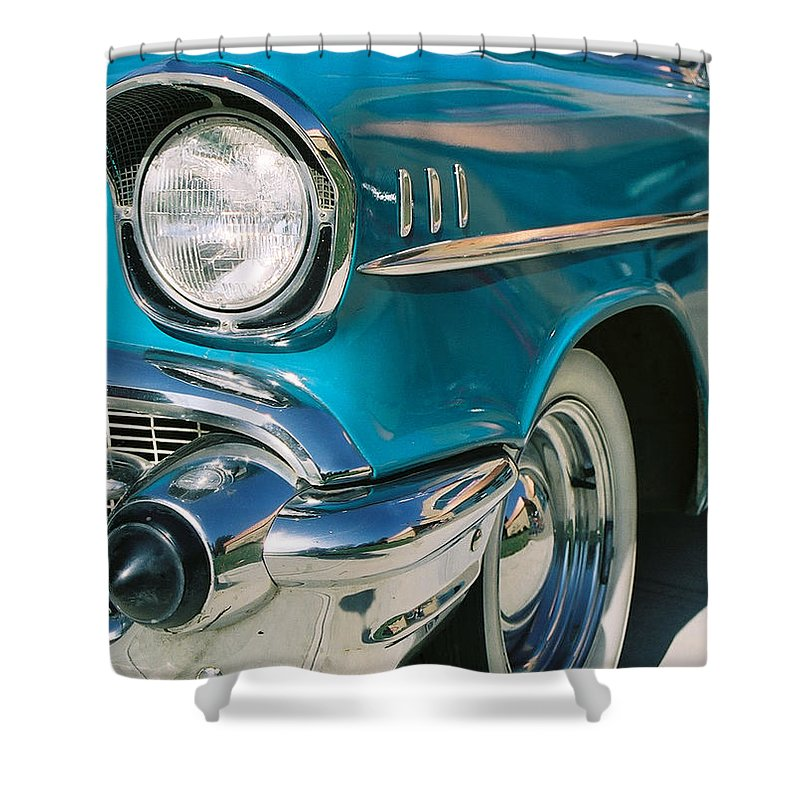 Chevy Shower Curtain featuring the photograph Old Chevy by Steve Karol