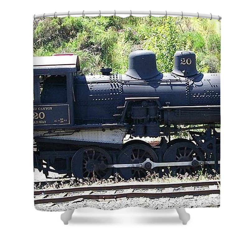 Trains Shower Curtain featuring the photograph Old Choo Choo by Jeff Swan