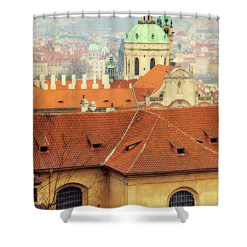City Shower Curtain featuring the photograph Old Church In Prague by Svetlana Sewell