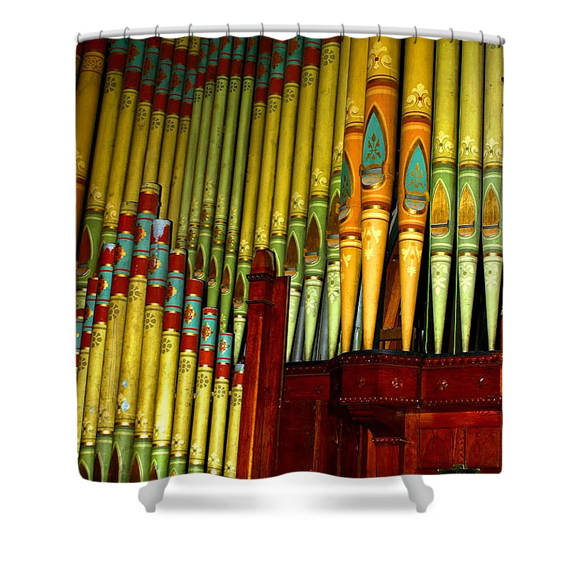 Organ Shower Curtain featuring the photograph Old Church Organ by Anthony Jones