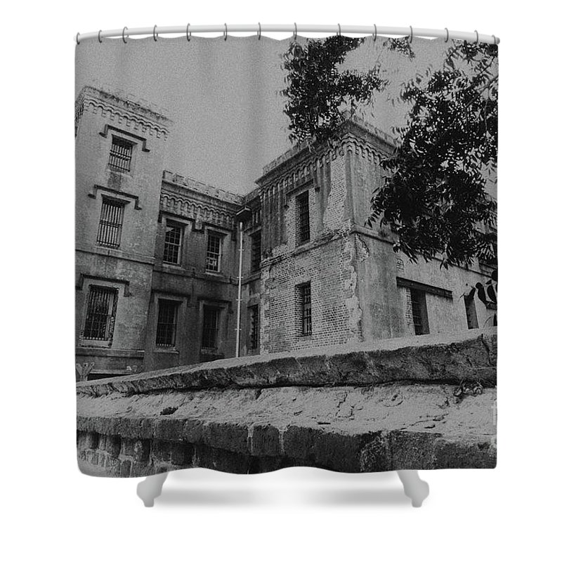 Old City Jail Shower Curtain featuring the photograph Old City Jail Charleston Sc by Dale Powell