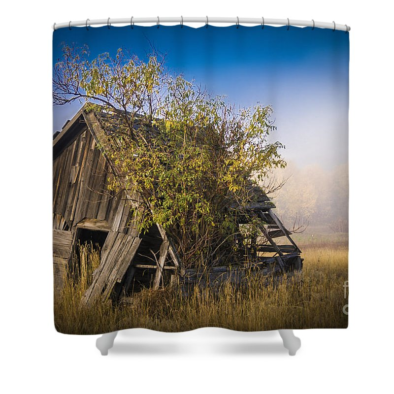 Abandoned Shower Curtain featuring the photograph Old Coal Miner's Shack by Daniel Brunner
