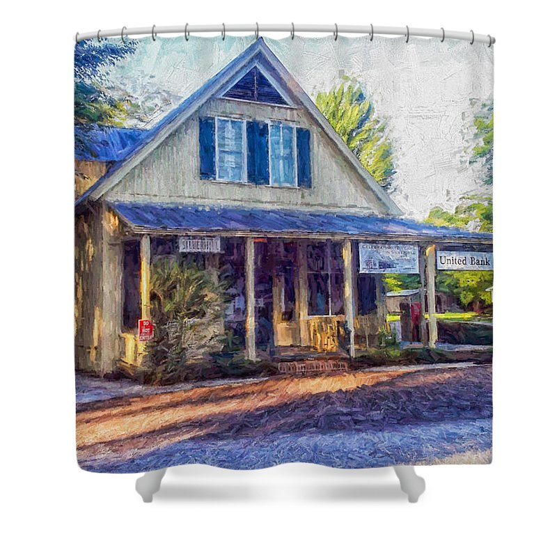 Alabama Shower Curtain featuring the painting Old Country Store by Shane Adams