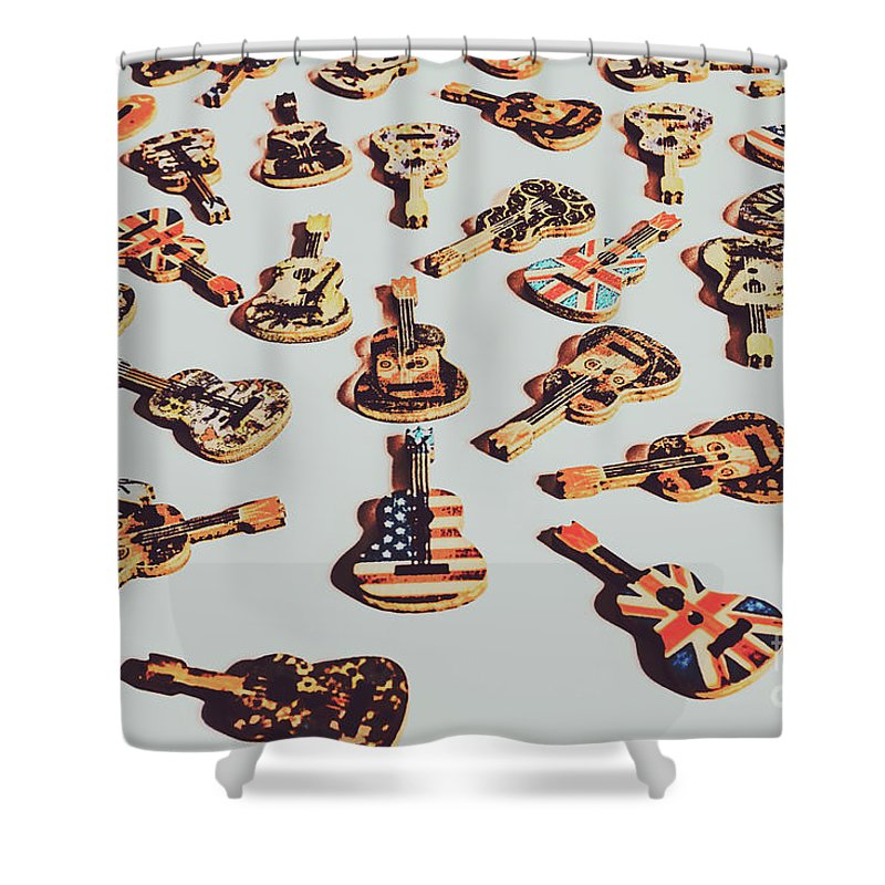 Rock Shower Curtain featuring the photograph Old Days Of Rock N Roll by Jorgo Photography - Wall Art Gallery