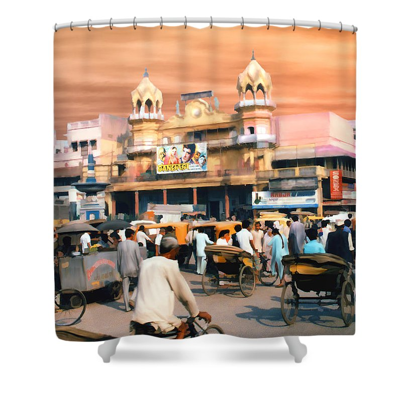 India Shower Curtain featuring the photograph Old Dehli by Kurt Van Wagner