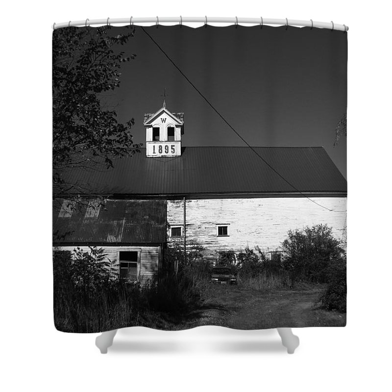 Old Farm House Shower Curtain featuring the photograph Old Farm House by Michael Mooney