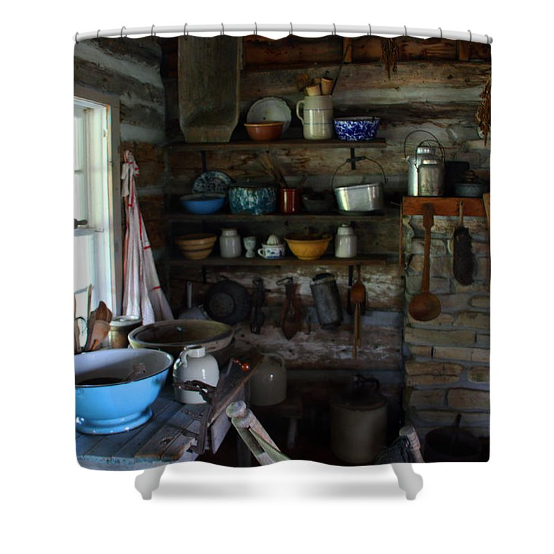 Farm Kitchen Shower Curtain featuring the photograph Old Farm Kitchen by Joanne Coyle