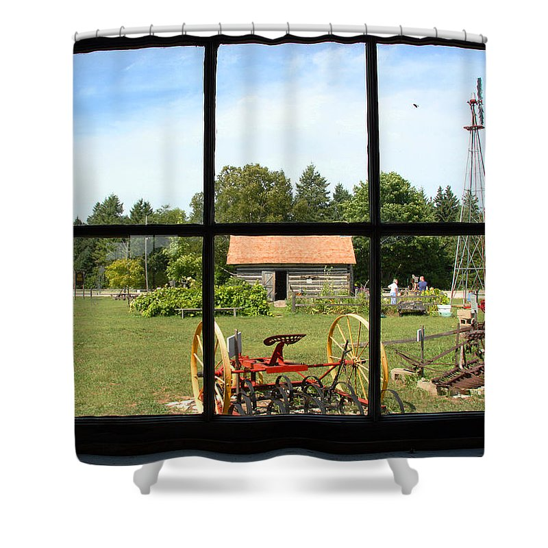 Farm Museum Shower Curtain featuring the photograph Old Farm View by Joanne Coyle