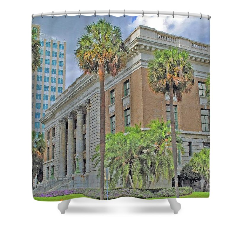 Tampa Shower Curtain featuring the photograph Old Federal Building by Jost Houk