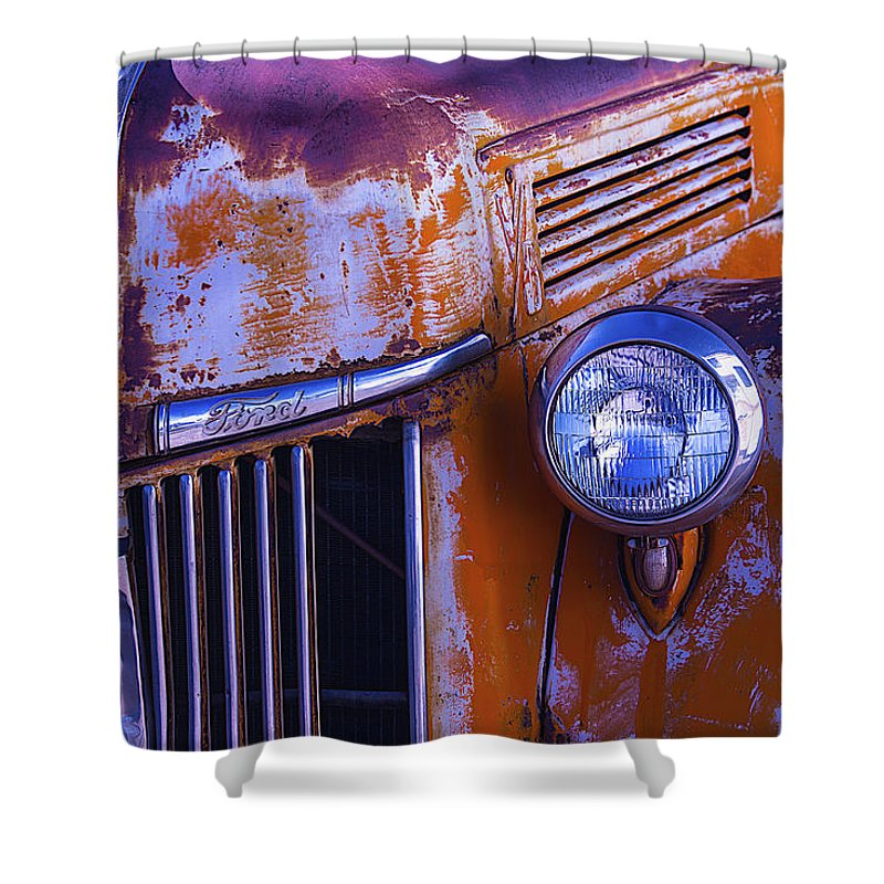 Truck Shower Curtain featuring the photograph Old Ford Pickup by Garry Gay