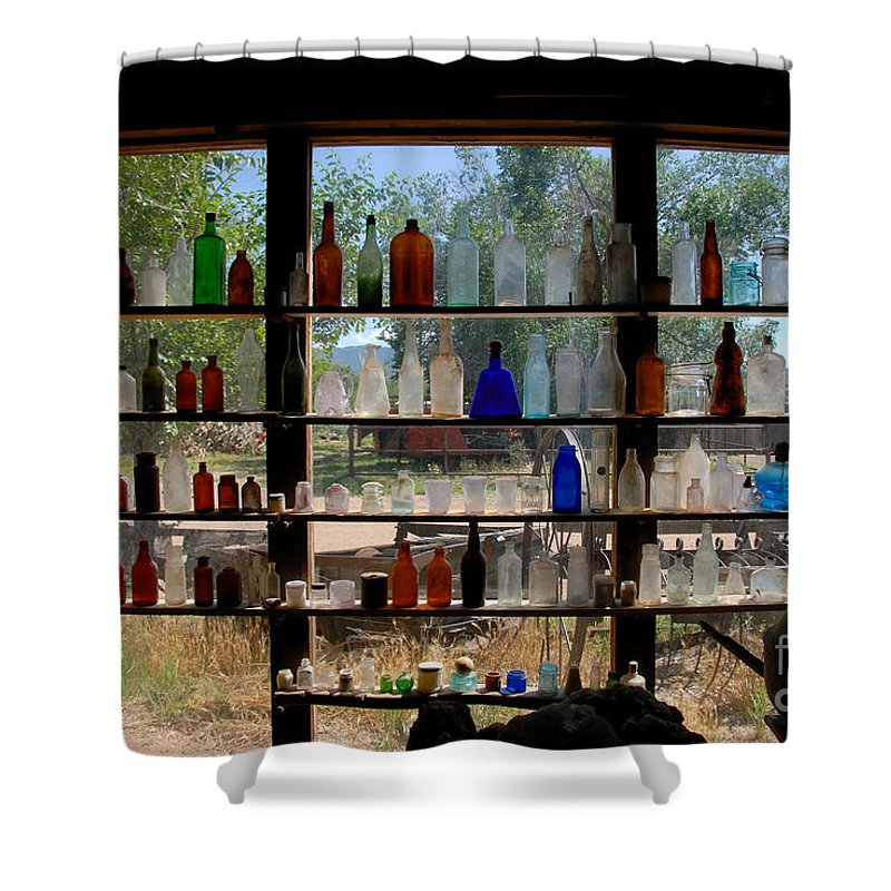 Glass Shower Curtain featuring the photograph Old Glass by David Lee Thompson