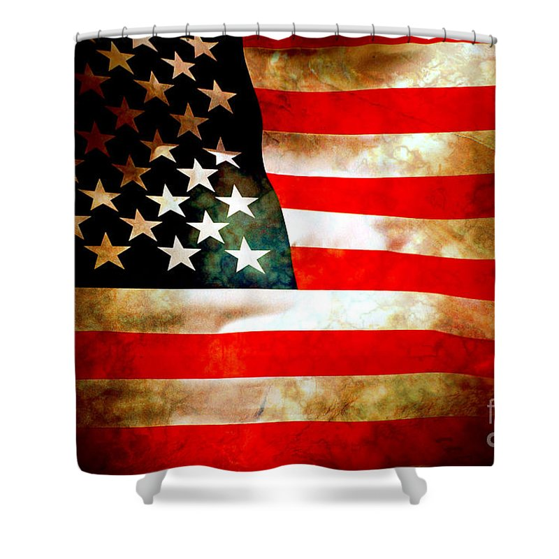 Flag Shower Curtain featuring the photograph Old Glory Patriot Flag by Phill Petrovic