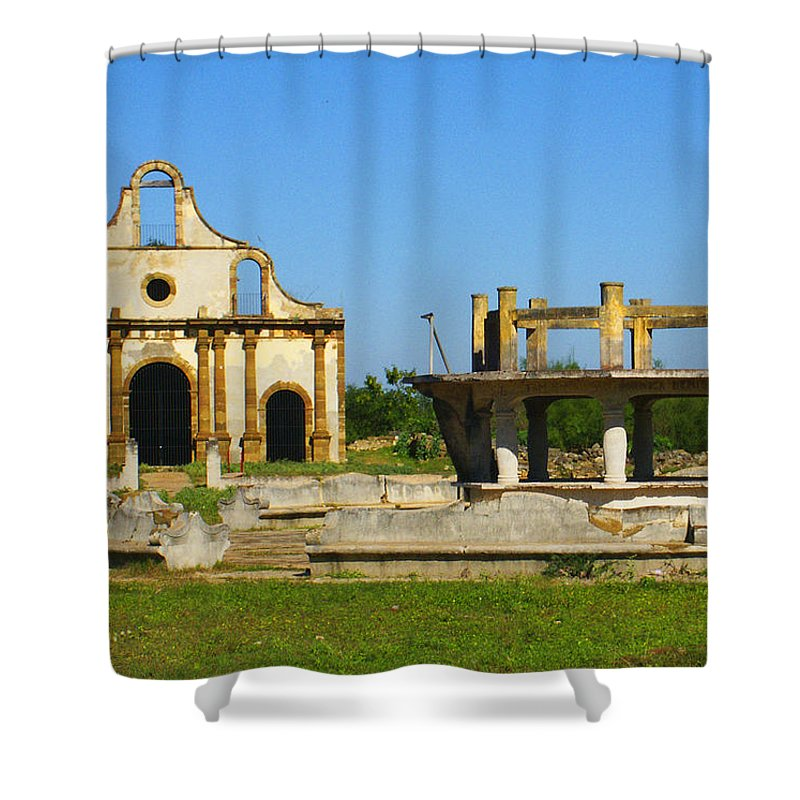Old Guerrero Shower Curtain featuring the photograph Old Guerrero Mexico by Marilyn Hunt