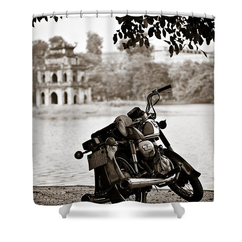 Honda Shower Curtain featuring the photograph Old Honda by Dave Bowman