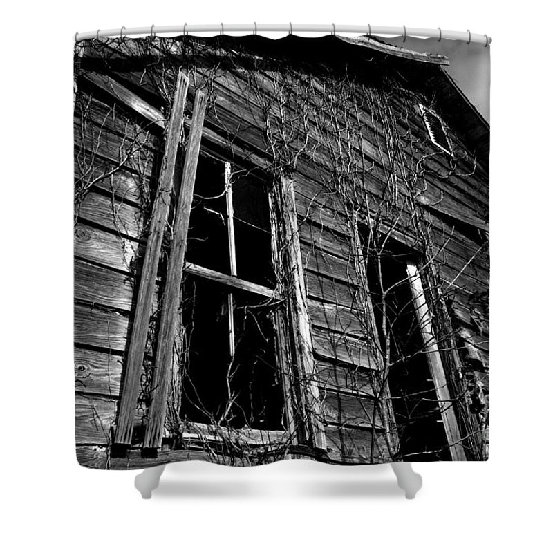old House Shower Curtain featuring the photograph Old House by Amanda Barcon