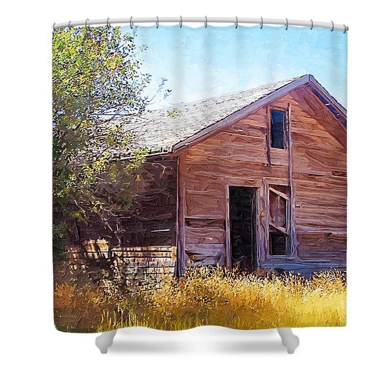 Floweree Montana Shower Curtain featuring the photograph Old House by Susan Kinney