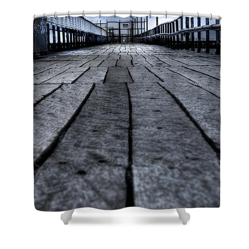 Jetty Shower Curtain featuring the photograph Old Jetty 2 by Kelly Jade King
