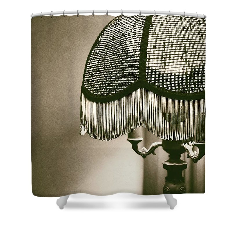 Lamp Shower Curtain featuring the photograph Old Lamp by Audrey Makar